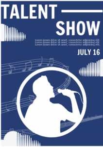 free talent show flyer  flyer template talent show poster template doc
