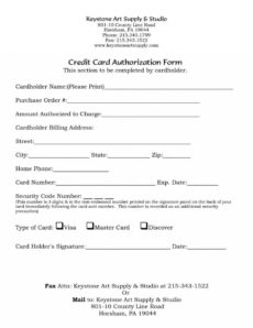 one time credit card payment authorization form template credit card billing authorization form template pdf