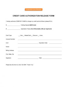printable 41 credit card authorization forms templates {readytouse} credit card billing authorization form template doc