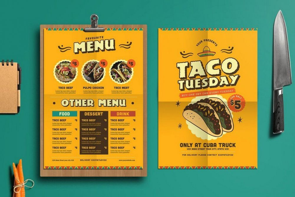 printable 50 best food & drink menu templates  design shack mexican food menu template doc