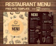 printable 50 best food & drink menu templates  design shack restaurant to go menu template excel