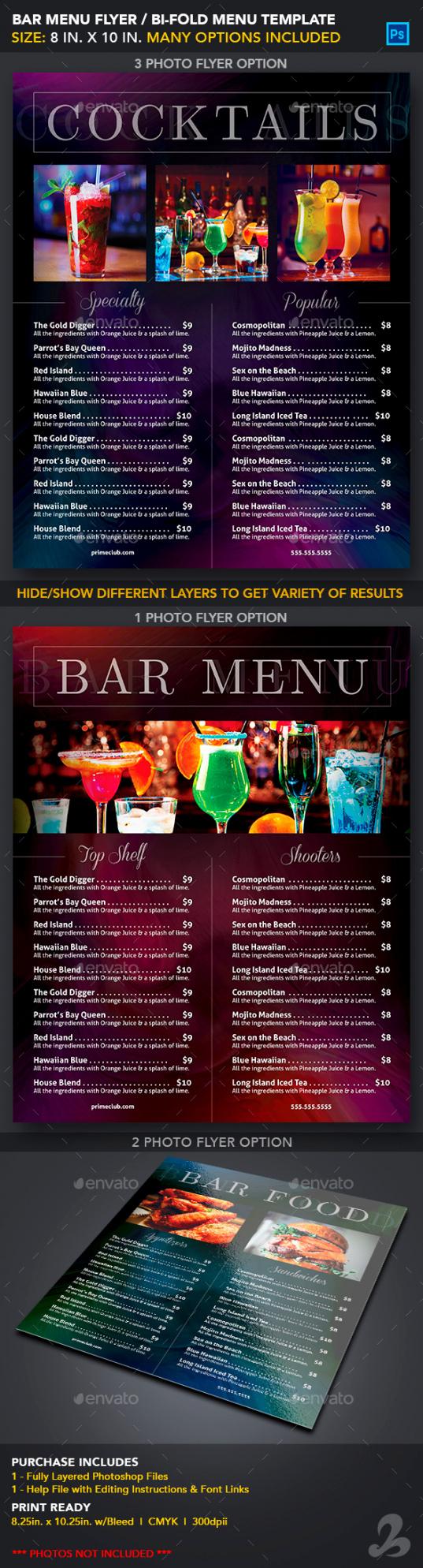 printable bar menu template graphics designs & templates bar drinks menu template pdf