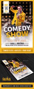 printable comedy poster graphics designs & templates from graphicriver comedy show poster template word