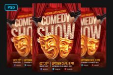 printable comedy show flyer template comedy show poster template doc