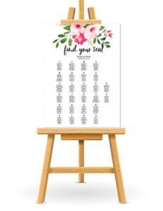 printable free wedding seating chart printable wedding reception seating chart poster template