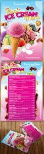 printable ice cream menu ice cream menu template example