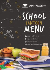 printable school canteen menu design template in psd word publisher school canteen menu template