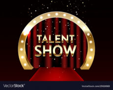 printable talent show poster template e royalty free vector image talent show poster template pdf