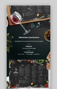 sample 20 plantillas geniales de menús de restaurantes los mejores fine dining restaurant menu template