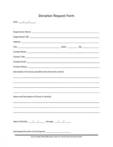 sample 43 free donation request letters & forms ᐅ templatelab donation request form template