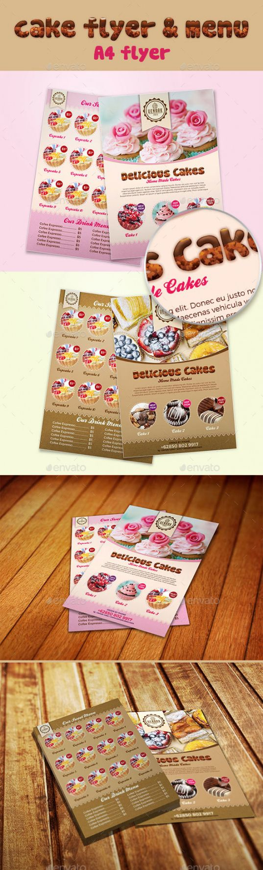 sample cake cafe menu templates from graphicriver cupcake menu template
