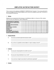 sample employee satisfaction survey template businessinabox™ customer survey form template doc