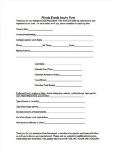 sample free 6 event inquiry forms in pdf sales enquiry form template pdf