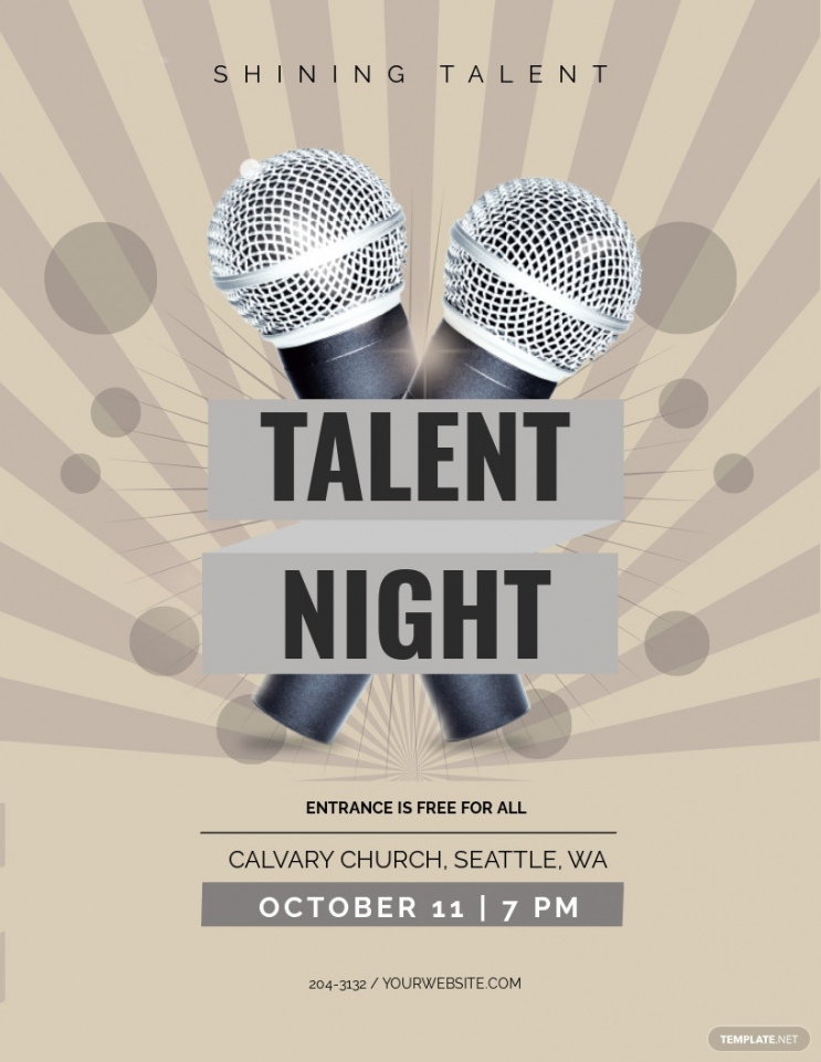 sample free talent show flyer template  word doc  psd  apple talent show poster template example