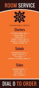 sample hotel room service menu template  mycreativeshop room service menu template sample