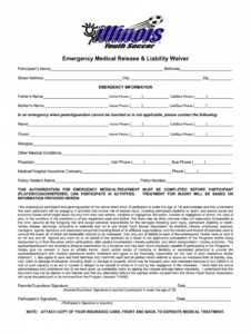 sample medical liability waiver form  fill out and sign printable pdf template   signnow emergency medical release form template sample