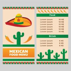 sample mexican food restaurant menu template  download free mexican food menu template sample