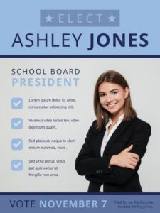 sample school board campaign poster template  mycreativeshop presidential campaign poster template sample