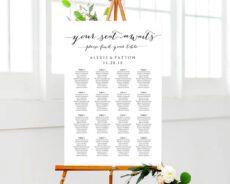 sample seating plan templates wedding reception seating chart poster template sample