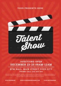 sample talent show flyer talent show poster template excel