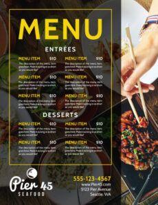 stylish restaurant menu template  mycreativeshop restaurant to go menu template