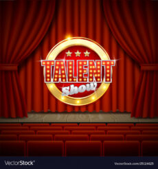 talent show poster template realistic royalty free vector talent show poster template example