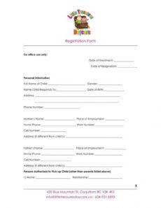 9 daycare application form templates  free pdf doc format child care employment application form template pdf