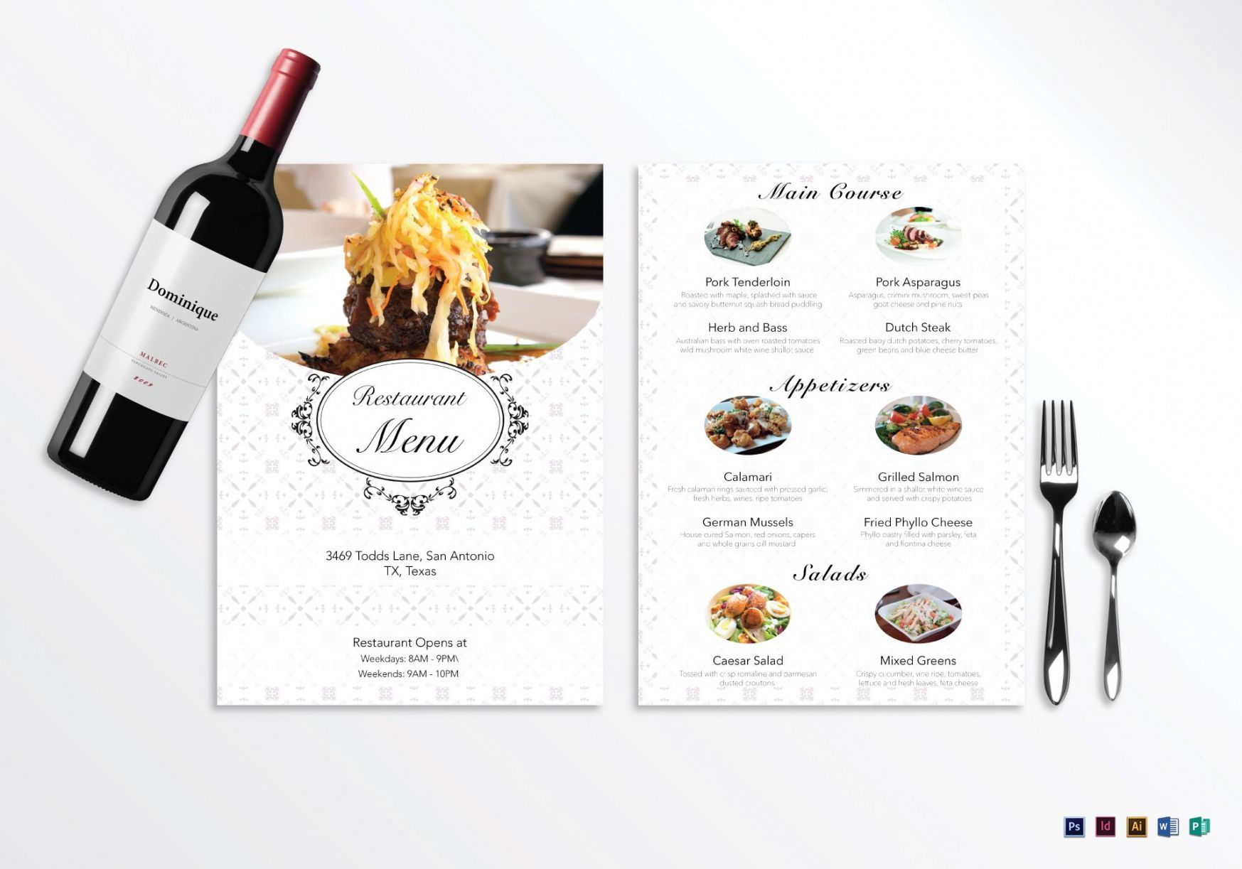 blank restaurant menu design template in psd word publisher menu template word