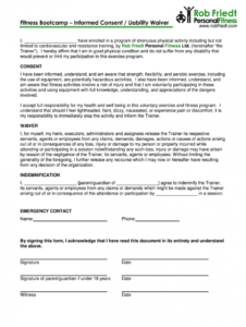 boot camp waiver form template  fill out and sign printable pdf template   signnow fitness waiver form template example