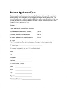 business application formbest sample forms  issuu partnership application form template word