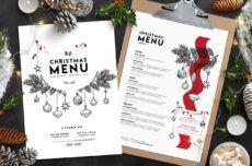 christmas menu template vol3  brandpacks christmas menu template