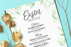 easter brunch menu easter brunch menu template doc