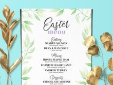 easter brunch menubarcelonadesignshop on dribbble easter brunch menu template example