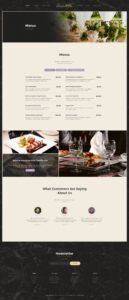 editable alanzo  personal chef & wedding catering event wordpress theme personal chef menu template doc
