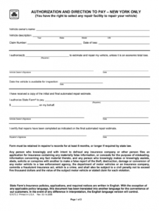 editable direction to pay form  fill out and sign printable pdf template  signnow repair authorization form template
