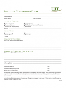 editable employee counseling form  2 free templates in pdf word employee counseling form template sample