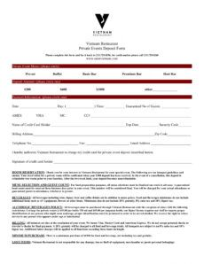 editable free 6 sample restaurant reservation forms in pdf party booking form template example