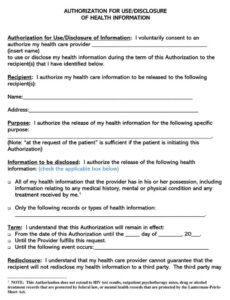 editable free medical records release authorization forms hipaa medical records authorization form template example
