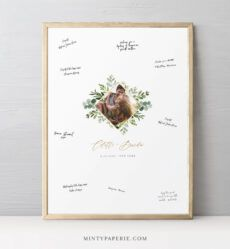 editable guestbook alternative poster greenery wedding photo guest wedding guest book poster template sample