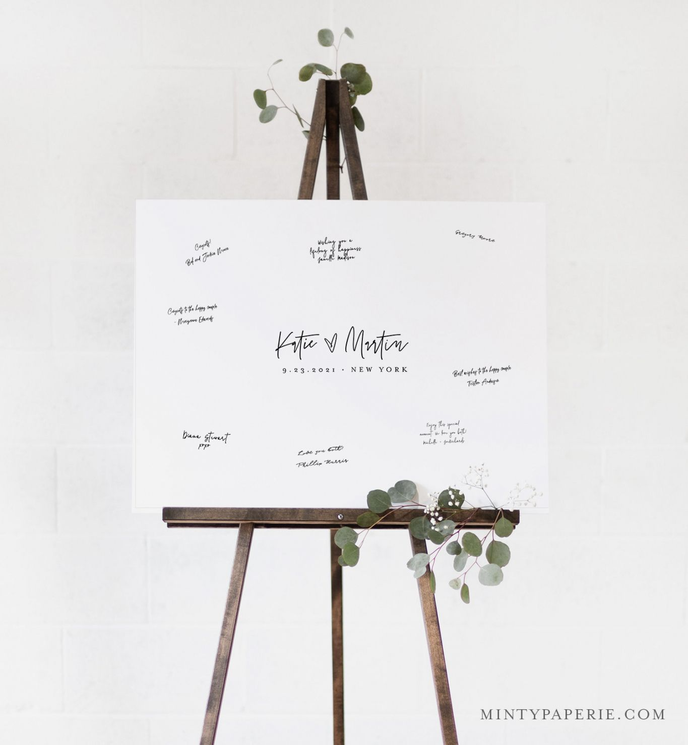 editable guestbook alternative poster minimalist wedding guest book wedding guest book poster template sample