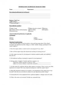 editable it service request form  2 free templates in pdf word it support request form template sample