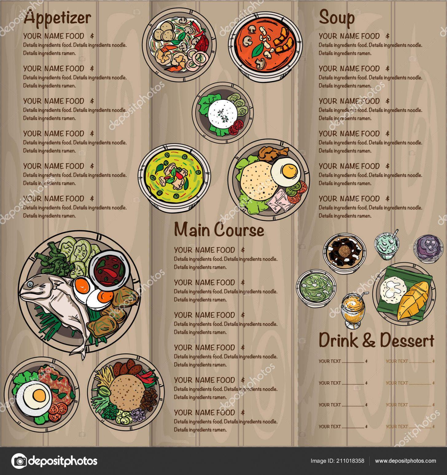 editable menu thai food design template graphic 211018358 thai restaurant menu template excel