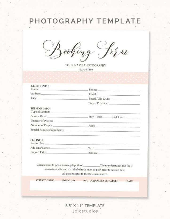 editable photography booking form client booking form photoshop template for  photographers booking form photography contract sign up form bf001 party booking form template