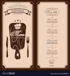 editable restaurant menu template menu brochure royalty free vector bar and grill menu template excel