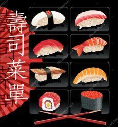 editable sushi menu template 97446356 sushi menu template