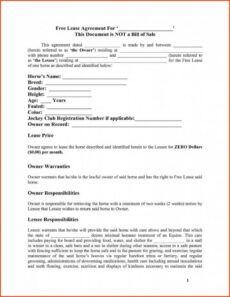 editable template horse lease agreement template horse lease horse lease form template word