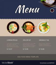 editable thai food menu template design royalty free vector image thai restaurant menu template pdf