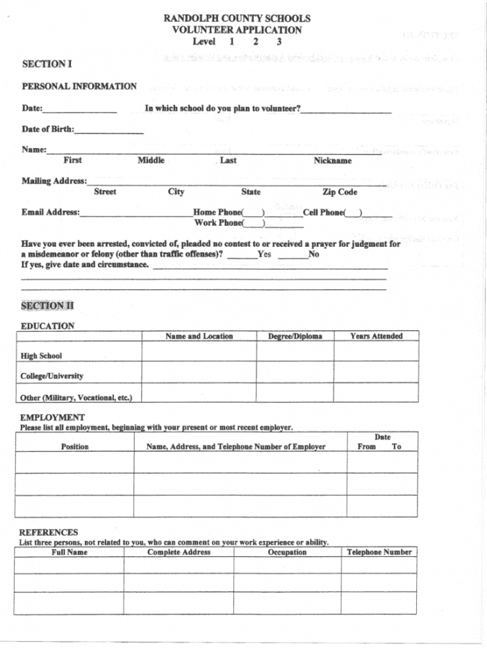 editable volunteer application template  fill out and sign printable pdf template   signnow school volunteer form template sample