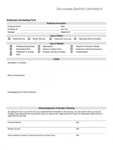 employee counseling form  fill out and sign printable pdf template   signnow employee counseling form template example