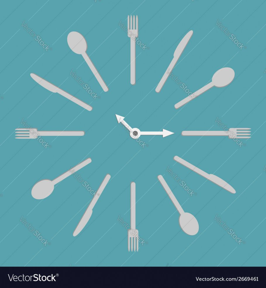 fork knife spoon round clock menu cover template vector image round menu template doc